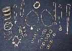 Assorted silver jewelries